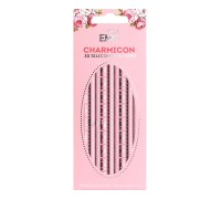 Наклейки для ногтей E.Mi Charmicon 3D Silicone Stickers (Цепи № 5 черные/белые)