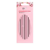 Наклейки для ногтей E.Mi Charmicon 3D Silicone Stickers (Цепи № 7 черные/белые)
