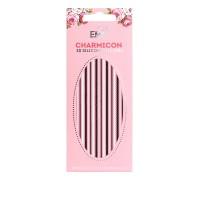 Наклейки для ногтей E.Mi Charmicon 3D Silicone Stickers (Цепи № 9 черные/белые)