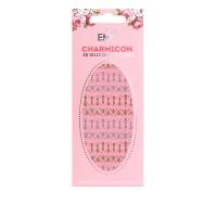 Наклейки для ногтей E.Mi Charmicon 3D Silicone Stickers (Лунулы № 27 золото/серебро)