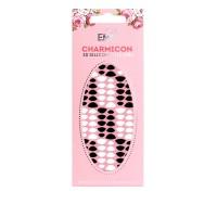 Наклейки для ногтей E.Mi Charmicon 3D Silicone Stickers (Лунулы № 8 черные/белые)