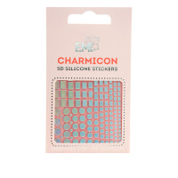 Наклейки для ногтей Charmicon 3D Silicone Stickers (Геометрия №99)