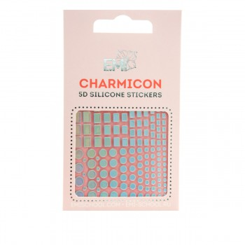 Наклейки для ногтей Charmicon 3D Silicone Stickers (Геометрия №99)