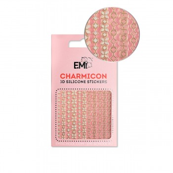 Наклейки для ногтей E.MI Charmicon 3D Silicone Stickers (152 Цепи)