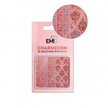 Наклейки для ногтей E.MI Charmicon 3D Silicone Stickers (153 Драгоценности)