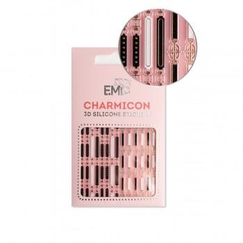 Наклейки для ногтей E.MI Charmicon 3D Silicone Stickers (156 Ремни)