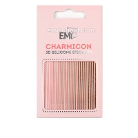 Наклейки для ногтей E.Mi Charmicon 3D Silicone Stickers (Линии золото № 117)