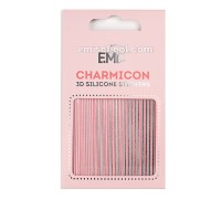 Наклейки для ногтей E.Mi Charmicon 3D Silicone Stickers (Линии № 118)