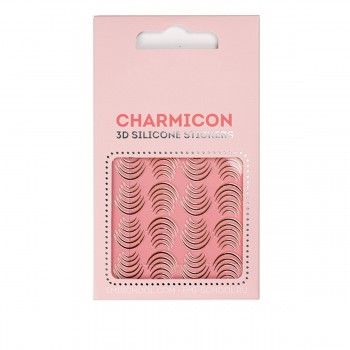 Наклейки для ногтей E.Mi Charmicon 3D Silicone Stickers (Лунулы золото № 115)