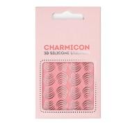 Наклейки для ногтей E.Mi Charmicon 3D Silicone Stickers (Лунулы серебро № 116)