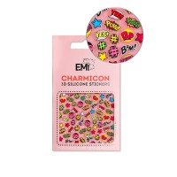 Наклейки для ногтей E.Mi Charmicon 3D Silicone Stickers (Поп-Арт № 128)