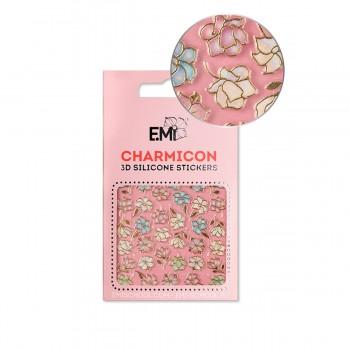 Наклейки для ногтей E.Mi Charmicon 3D Silicone Stickers (Магнолии и лилии № 136)