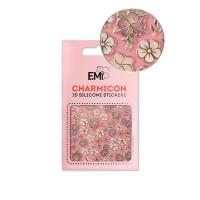 Наклейки для ногтей E.Mi Charmicon 3D Silicone Stickers (Цветы MIX № 134)
