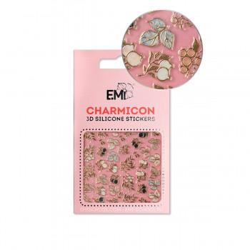 Наклейки для ногтей E.MI Charmicon 3D Silicone Stickers (Веточки и ягоды № 137)