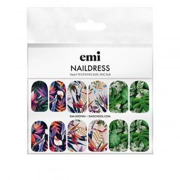Слайдер-дизайн E.MI NailDress (64 Тропические листья)