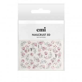 Трафарет-слайдер E.MI 5D NailCrust (№27 Магнолии)