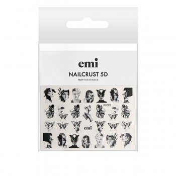 Трафарет-слайдер E.MI 5D NailCrust (№29 Toltal Black)