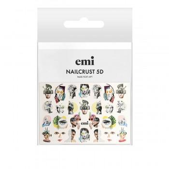Трафарет-слайдер E.MI 5D NailCrust (№30 Поп-арт)