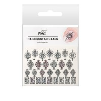 Трафарет-слайдер E.MI 5D NailCrust GLASS (№1 Украшения)
