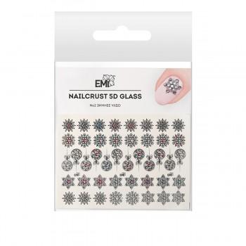 Трафарет-слайдер E.MI 5D NailCrust GLASS (№2 Зимнее чудо)