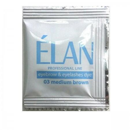 Краска для бровей + окислитель + масло Elan 3*5 г (Светло-коричневый)