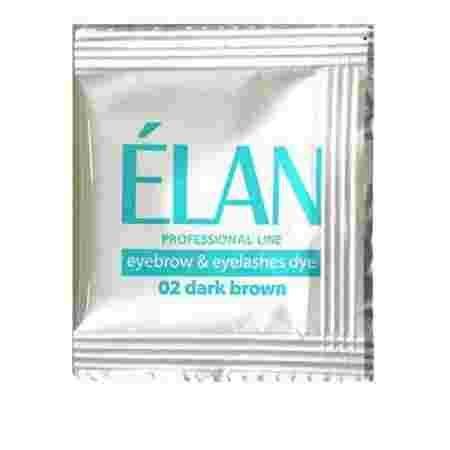 Краска для бровей + окислитель + масло Elan 3*5 г (Темно-коричневый)