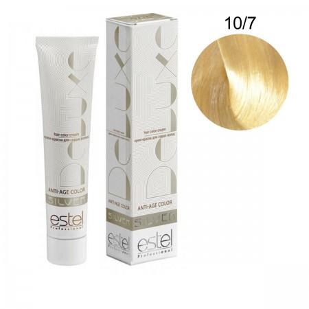 Краска для волос Estel Deluxe SILVER (10-7 Светлый блонд коричневый)