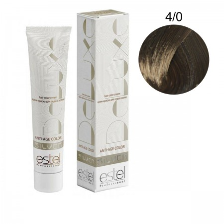 Краска для волос Estel Deluxe SILVER (4-0 Шатен)