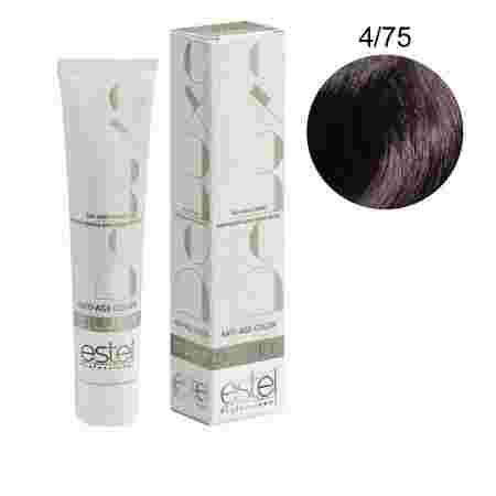 Краска для волос Estel Deluxe SILVER (4-75 Шатен коричнево-красный)