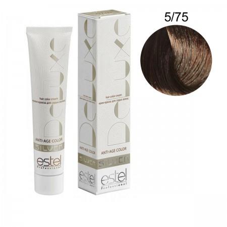 Краска для волос Estel Deluxe SILVER (5-75 Светлый шатен корич-крас)