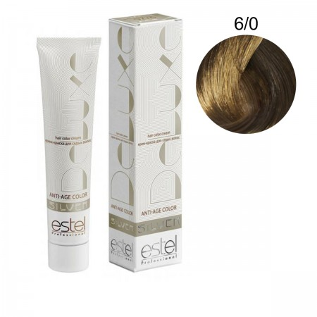 Краска для волос Estel Deluxe SILVER (6-0 Темно-русый)