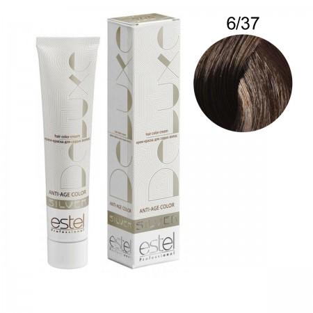 Краска для волос Estel Deluxe SILVER (6-37 Темно-русый золотисто-коричневый)