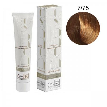 Краска для волос Estel Deluxe SILVER (7-75 Русый коричнево-красный)