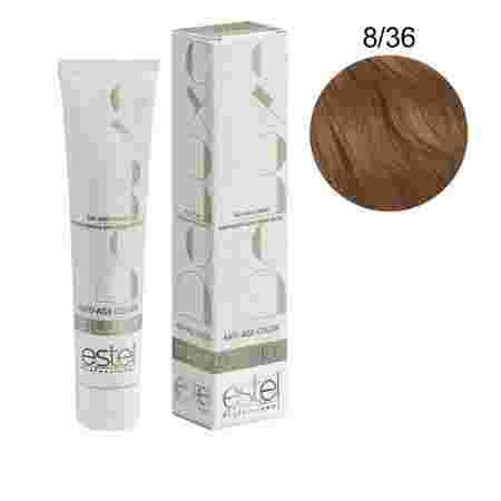Краска для волос Estel Deluxe SILVER (8-36 Светло-русый золотисто-фиолетовый)
