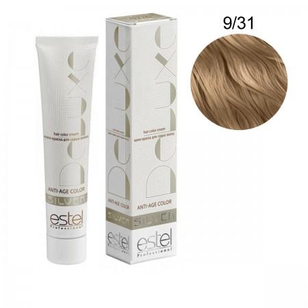 Краска для волос Estel Deluxe SILVER (9-31 Блондин золотисто-пепельный)