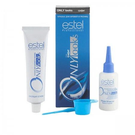 Краска Estel ONLY для бровей и ресниц графит