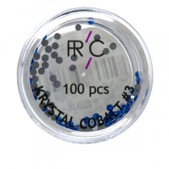 Стразы цветные 3 FRC 100 шт 100 шт (Cobalt)