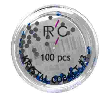 * Стразы цветные 3 FRC 100 шт 100 шт (Cobalt)