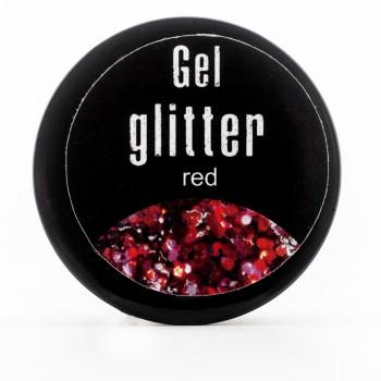 Гель-глиттер FRC  5 гр (45 SB red)