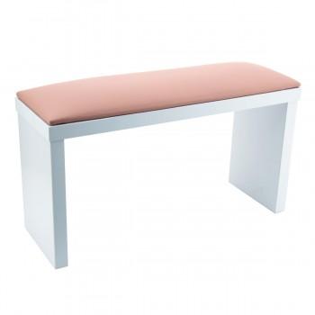 Подлокотник для маникюра на белых ножках XL (Pink)