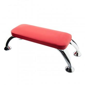 Подлокотник для маникюра на хромированных ножках FRC (Red)