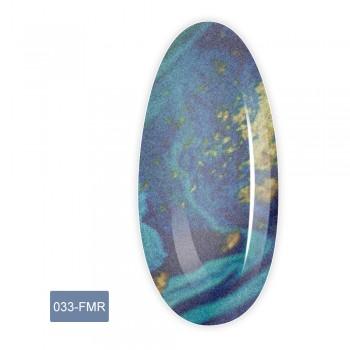 Фольга для литья FRC 1 м (033-FMR синий мрамор с золотом)