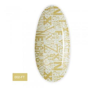 Фольга для литья FRC 1 м (002-FТ Надписи золото большие буквы)