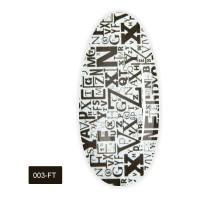 Фольга для литья FRC 1 м (003-FT Надписи черные большие надписи)