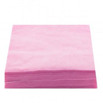 Салфетки нарезанные 20х20 сетка 50 шт (Розовый)
