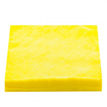 Салфетки нарезанные 20х20 сетка100 шт (Желтый)