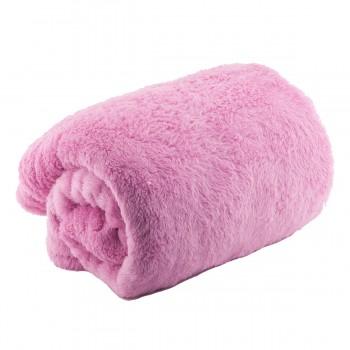 Плед махровый 110х180 см (Розовый)