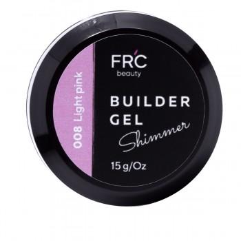 Гель для наращивания Builder GEL 1фазный с шиммером FRC 15 г (008 Light pink)