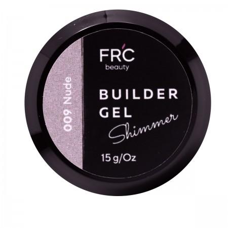 Гель для наращивания Builder GEL 1фазный с шиммером FRC 15 г (009 Nude)