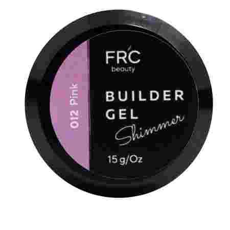 Гель для наращивания Builder GEL 1фазный с шиммером FRC 15 г (012 Pink)